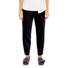 Buy Ted Baker Jodee Curved Hem Velvet Jogger Trousers, Dark Blue Online at johnlewis.com