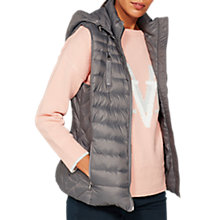 Buy Mint Velvet Graphite Quilted Puffa Gilet, Grey Online at johnlewis.com