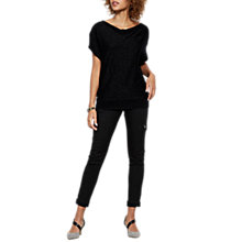 Buy Mint Velvet Newport Coated Jeggings, Black Online at johnlewis.com