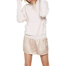 Buy Hygge by Mint Velvet Cashmere Hooded Batwing Jumper, Light Pink Online at johnlewis.com