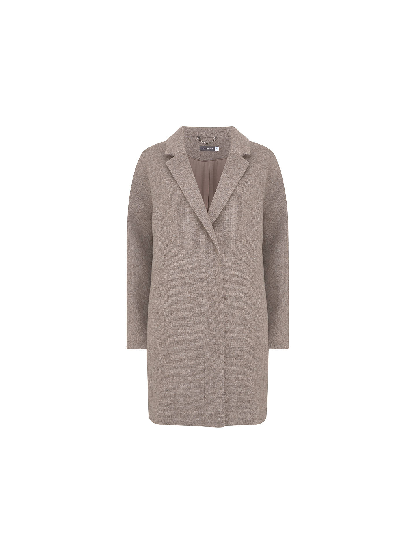BuyMint Velvet Easy Coat, Oatmeal, 6 Online at johnlewis.com