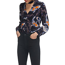 Buy Whistles Caroline Koi Carpe Silk Top, Navy/Multi Online at johnlewis.com