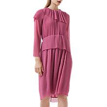 Buy Finery Balstone Layered Pleated Dress, Rose Pink Online at johnlewis.com