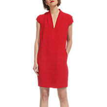 Buy Whistles Paige V Neck Crepe Dress, Red Online at johnlewis.com