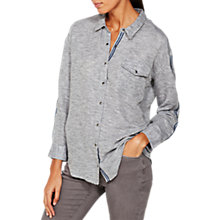 Buy Mint Velvet Marl Shirt, Light Grey Online at johnlewis.com