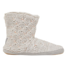 Buy Hygge by Mint Velvet Cable Stitch Knit Boot Slippers Online at johnlewis.com