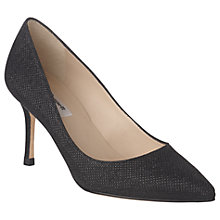 Buy L.K. Bennett Bianca Pointed Toe Court Shoes, Black Online at johnlewis.com