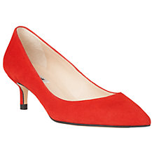 Buy L.K.Bennett Audrey Pointed Toe Court Shoes, Red Suede Online at johnlewis.com