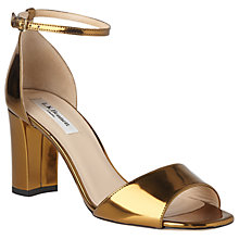 Buy L.K. Bennett Helena Block Heeled Sandals, Gold Online at johnlewis.com