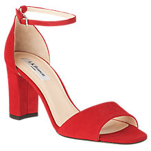 Buy L.K.Bennett Helena Block Heeled Sandals, Rocca Red Suede Online at johnlewis.com