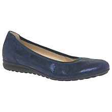 Buy Gabor Splash Wide Fit Pumps, Night Blue Leather Online at johnlewis.com
