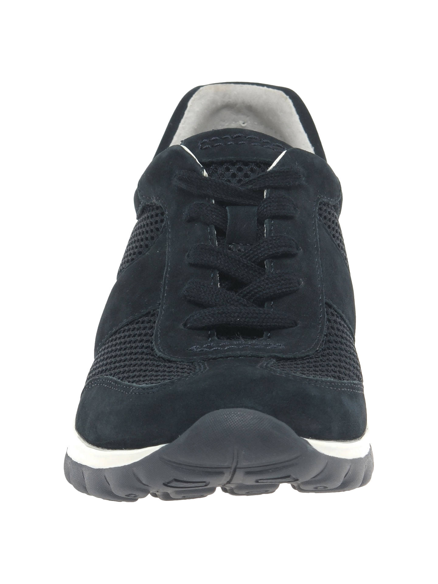 ef9f6c5075a82 Buy Gabor Helen Extra Wide Fit Trainers, Navy Nubuck, 4 Online at johnlewis.