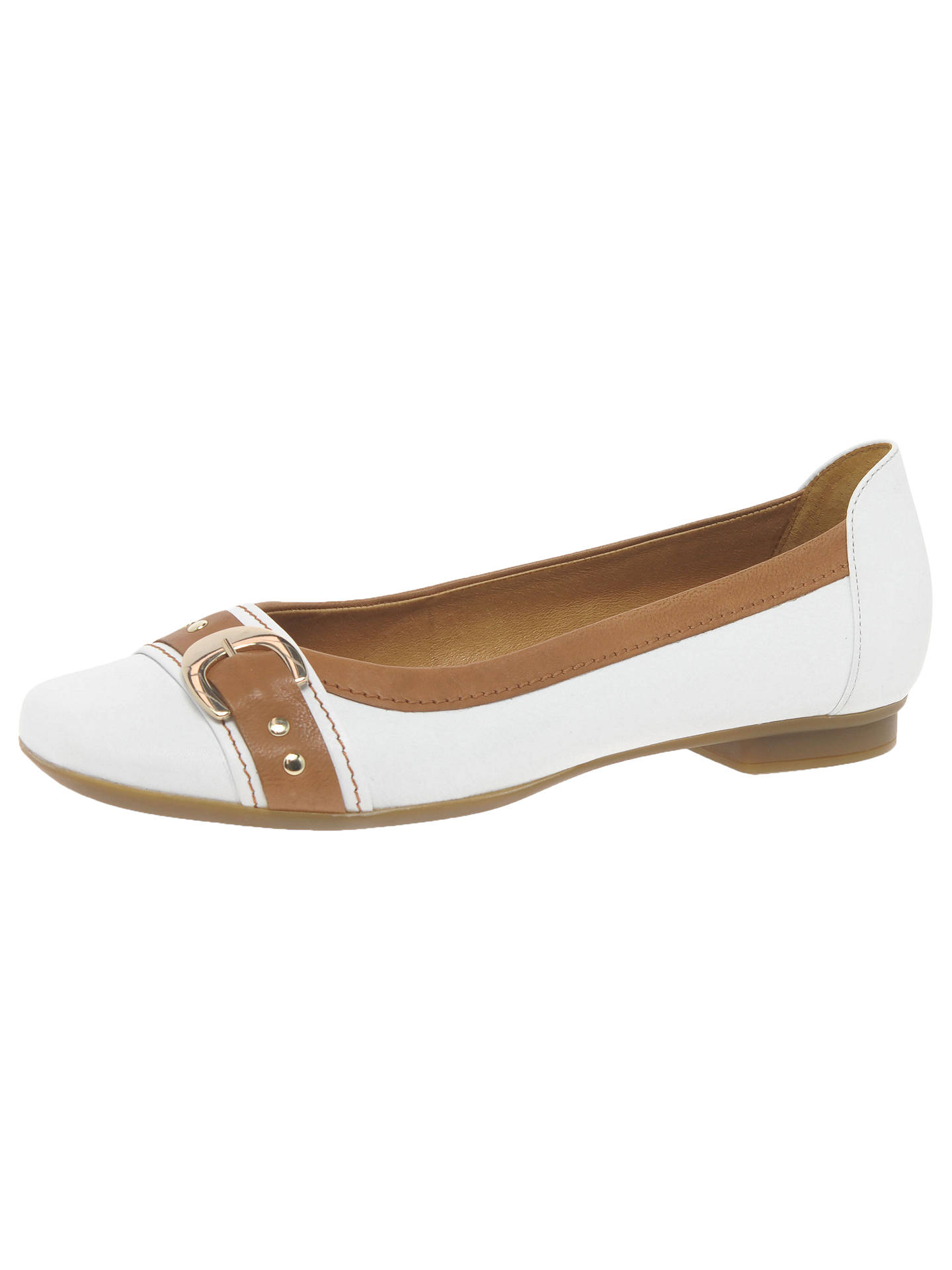f7f168e6521f ... BuyGabor Indiana Pumps, White Caramel, 4 Online at johnlewis.com ...