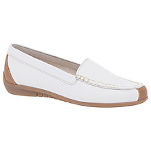 Buy Gabor Lois Moccasins, White/Cognac Leather Online at johnlewis.com