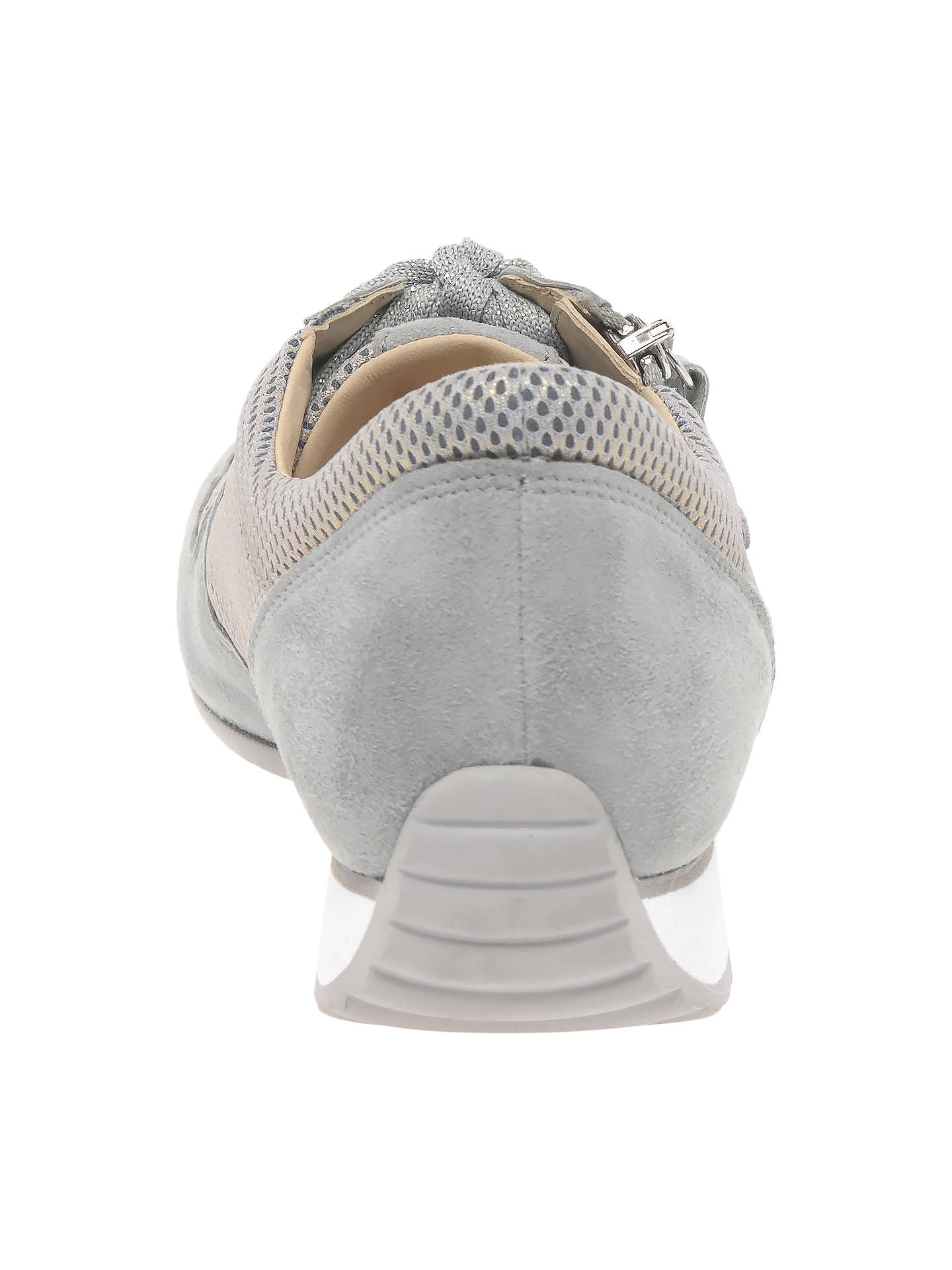 41268b6e33249 ... Buy Gabor Maybelle Wide Fit Lace Up Trainers, Light Grey Suede, 4  Online at ...