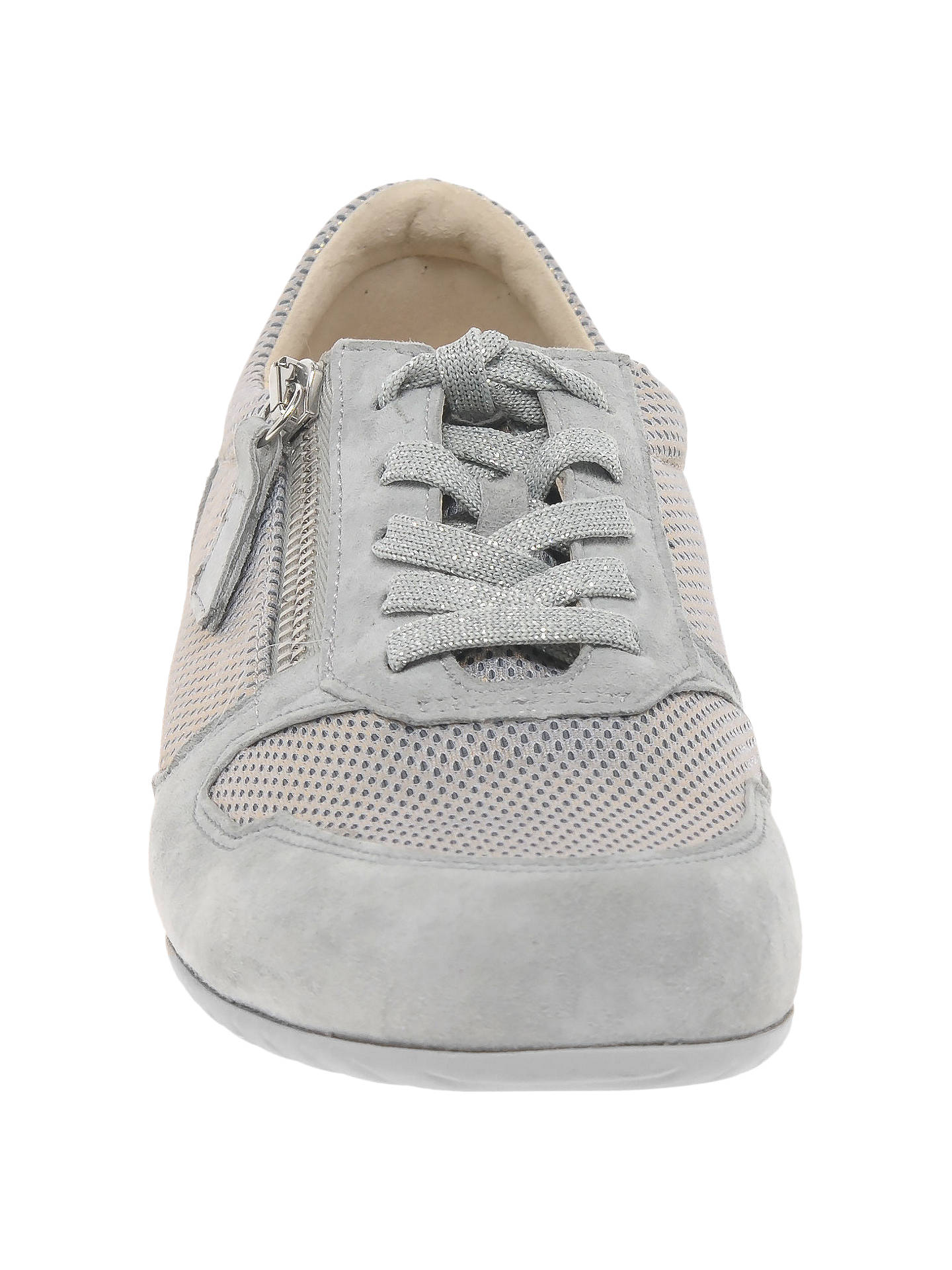 bf9ad69b94fcd ... Buy Gabor Maybelle Wide Fit Lace Up Trainers, Light Grey Suede, 4  Online at