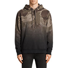 Buy AllSaints Contour Camo Print Hoodie, Black Online at johnlewis.com