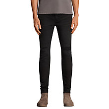 Buy AllSaints Bixby Stretch Skinny Jeans, Black Online at johnlewis.com