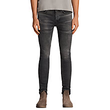 Buy AllSaints Bishop Stretch Skinny Jeans, Grey Online at johnlewis.com