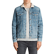Buy AllSaints Ikano Denim Jacket, Indigo Blue Online at johnlewis.com