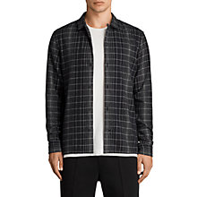 Buy AllSaints Alverstone Checked Long Sleeve Shirt, Black Online at johnlewis.com