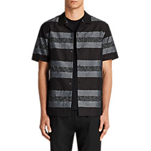 Buy AllSaints Gabon Stripe Short Sleeve Shirt Online at johnlewis.com
