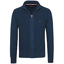 Buy Tommy Hilfiger Tylor Zip Up Cardigan, Blue Melted Online at johnlewis.com