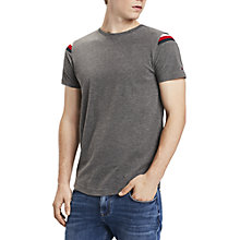 Buy Tommy Hilfiger Donny Stripe Detail T-Shirt, Grey Online at johnlewis.com
