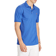 Buy Polo Ralph Lauren Short Sleeve Soft-Touch Slim Polo Shirt, Provincetown Blue Online at johnlewis.com