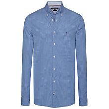 Buy Tommy Hilfiger Dot Print Long Sleeve Shirt, Blue Online at johnlewis.com