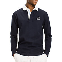 Buy Tommy Hilfiger Ryan Long Sleeve Rugby Top, Navy Online at johnlewis.com
