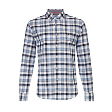 Buy Tommy Hilfiger Jude Check Print Shirt, Blue Online at johnlewis.com