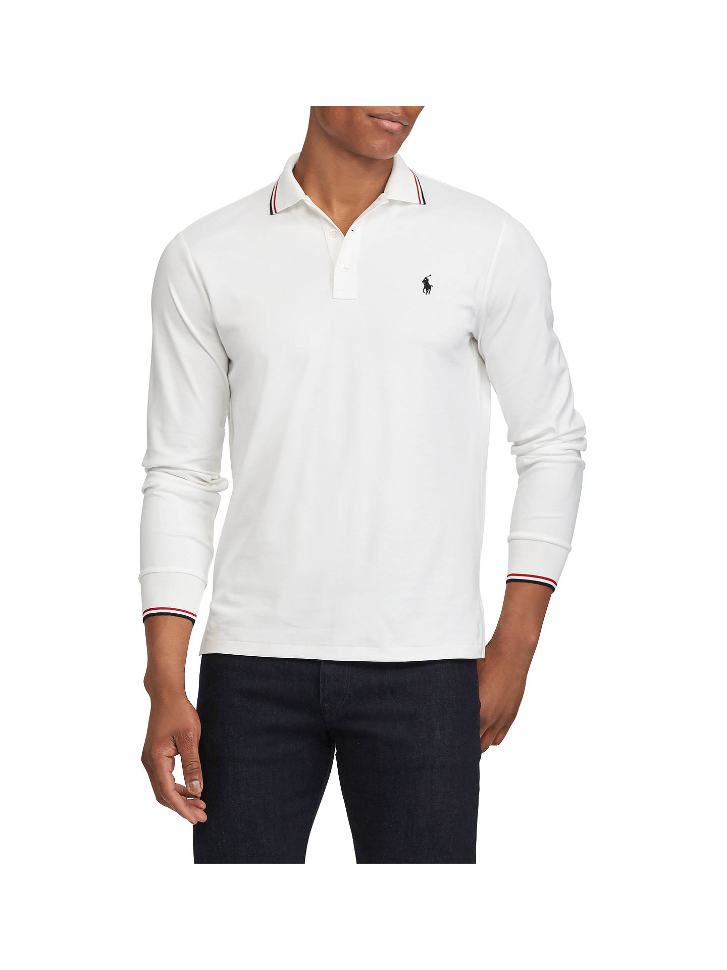 Ralph Lauren Long Sleeve Polo Shirt White Rldm