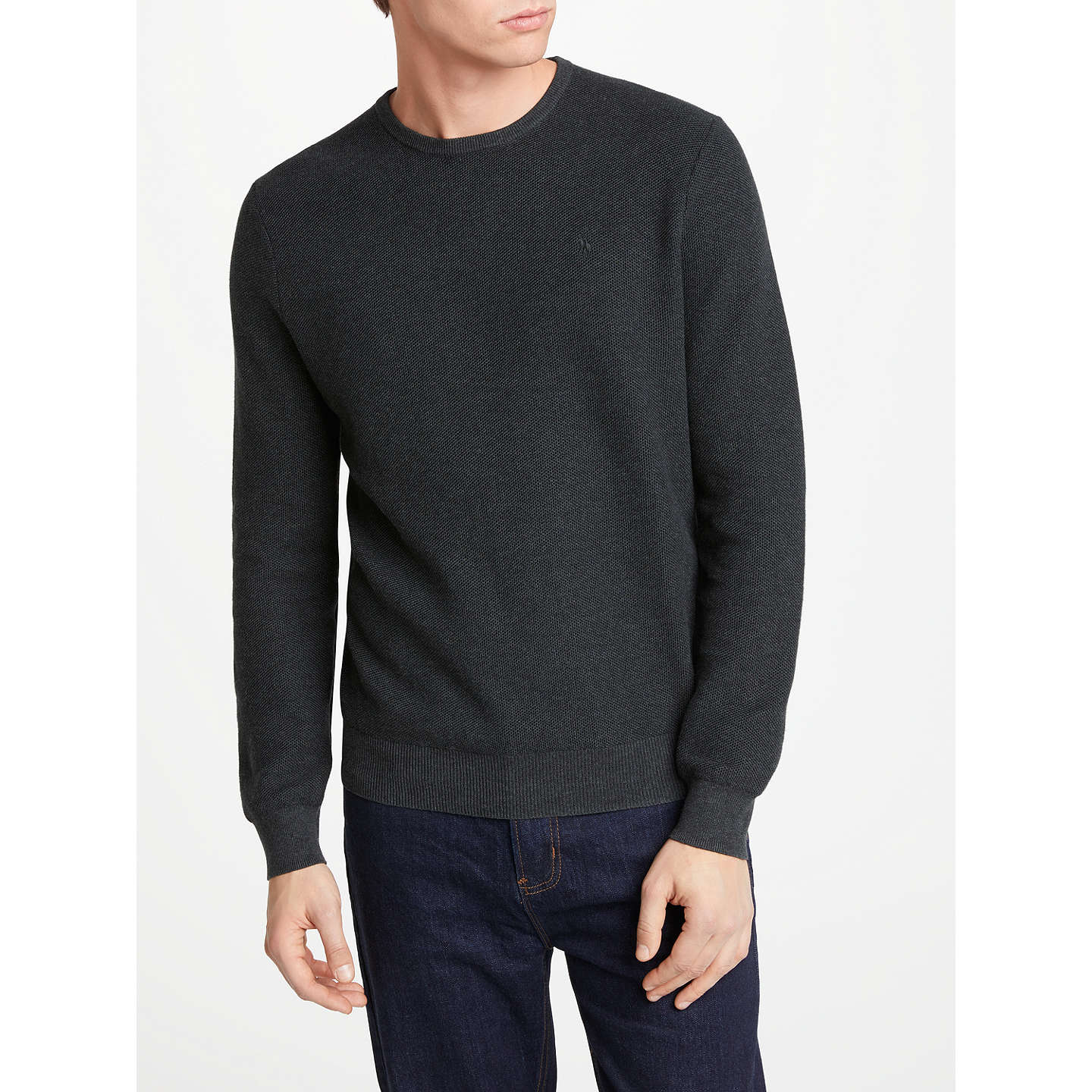 BuyPolo Ralph Lauren Long Sleeve Sweatshirt, Charcoal Grey Heather, S  Online at johnlewis.