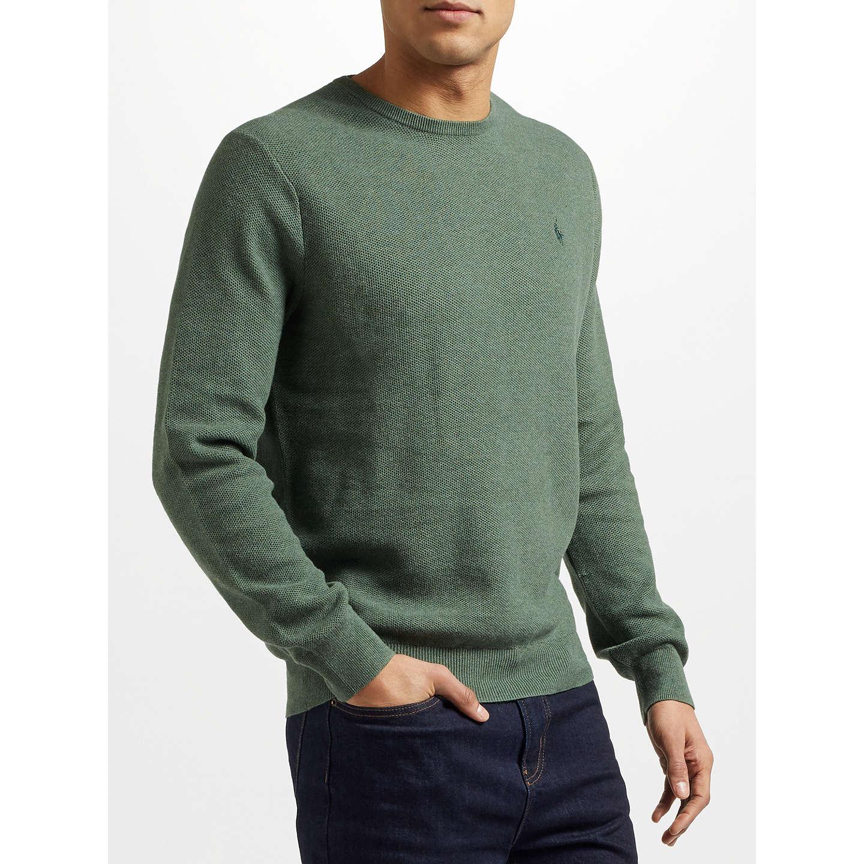 BuyPolo Ralph Lauren Pima Cotton Crew Neck Sweatshirt, Moss Green Heather,  S Online at ...