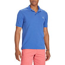 Buy Polo Ralph Lauren Custom Slim Fit Weathered Polo Shirt, Provincetown Blue Online at johnlewis.com