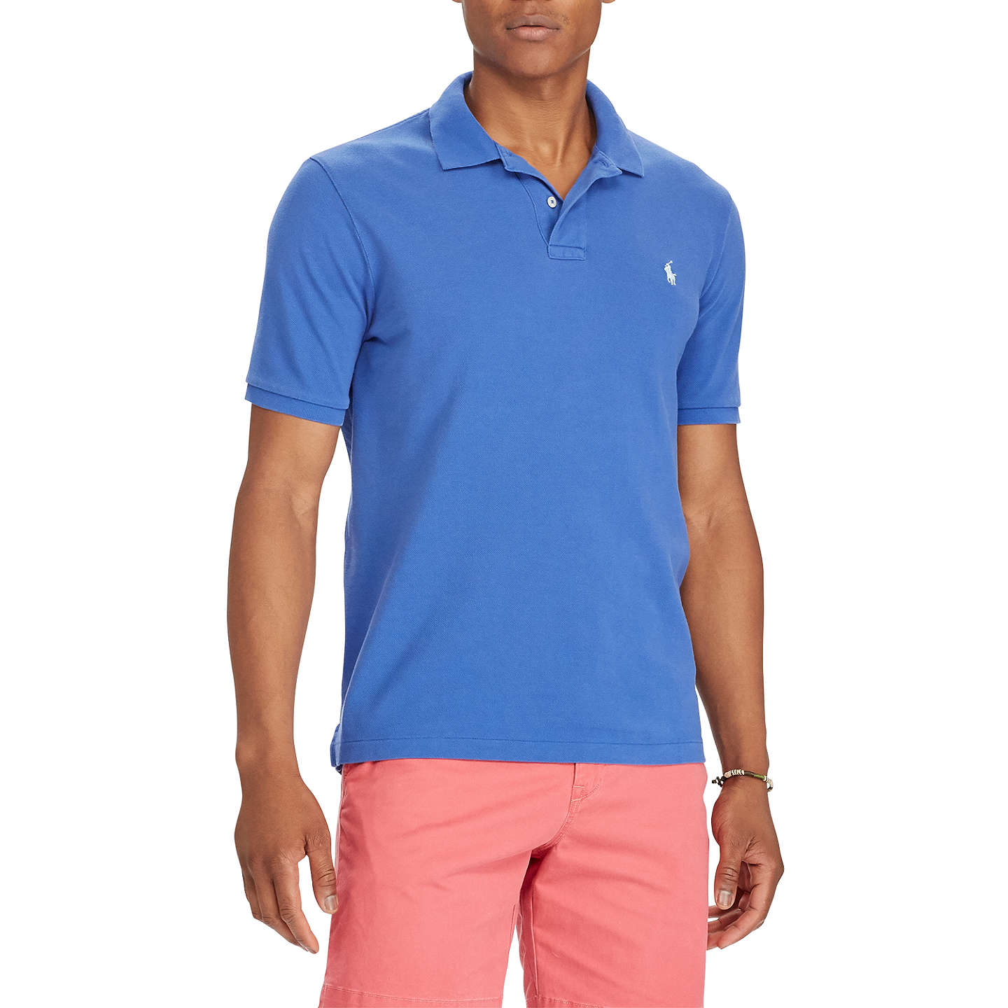 BuyPolo Ralph Lauren Custom Slim Fit Weathered Polo Shirt, Provincetown Blue,  S Online at ...