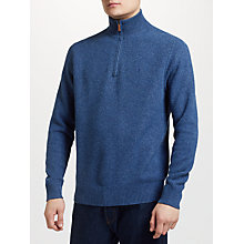 Buy Polo Ralph Lauren Tussah Silk Half Zip Jumper Online at johnlewis.com