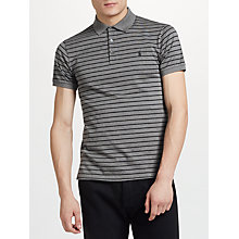 Buy Polo Ralph Lauren Slim Polo Shirt, Foster Grey Heather/Polo Black Online at johnlewis.com
