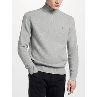 Polo Ralph Lauren Tussah Silk Half Zip Jumper
