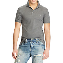 Buy Polo Ralph Lauren Custom Slim Fit Polo Top, Foster Grey Heather Online at johnlewis.com