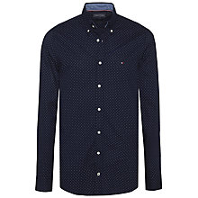 Buy Tommy Hilfiger Polka Dot Print Shirt, Navy Online at johnlewis.com