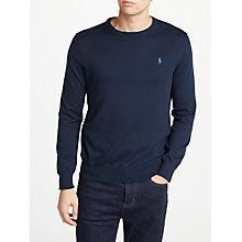 Buy Polo Ralph Lauren Slim Fit Crew Neck Sweatshirt Online at johnlewis.com