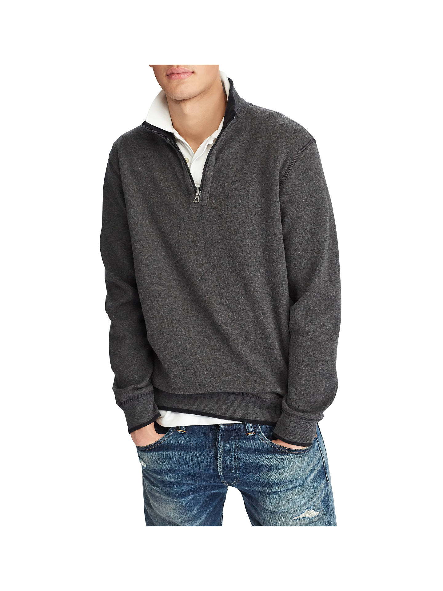 Long Reversible Half Polo John Zip Lauren Jumper Sleeve At Ralph f7yvYb6g