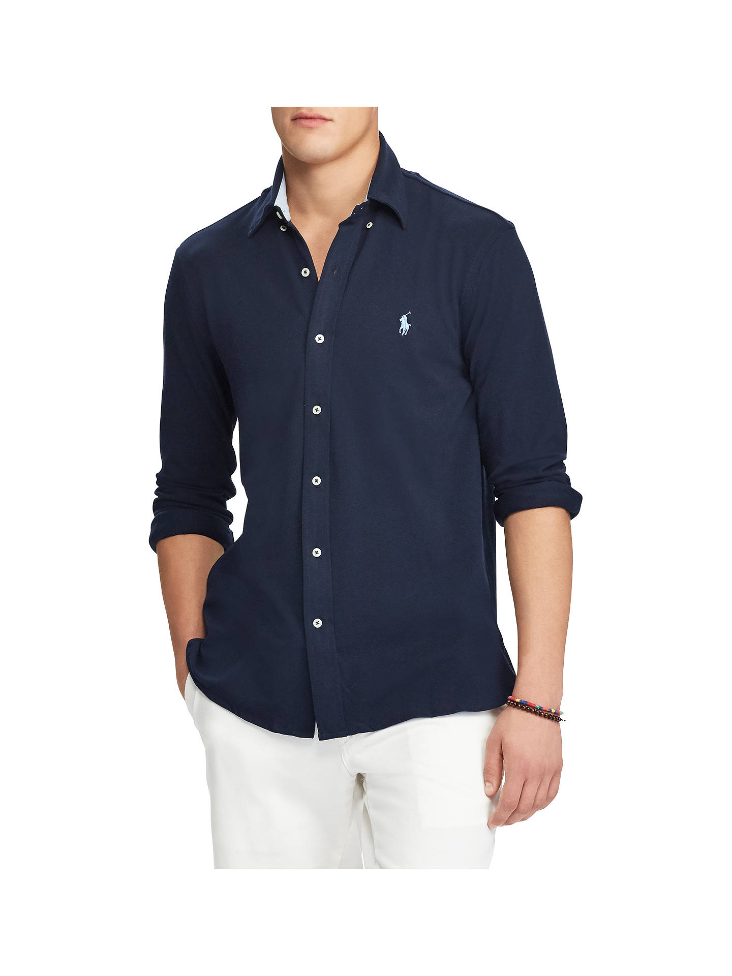 640fbe4eda06f Buy Polo Ralph Lauren Long Sleeve Button Down Shirt, Aviator Navy, S Online  at ...