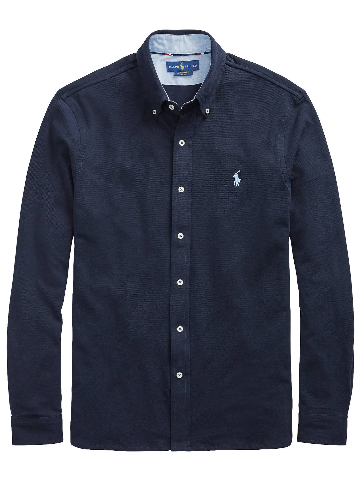BuyPolo Ralph Lauren Long Sleeve Button Down Shirt, Aviator Navy, S Online at johnlewis.com