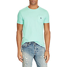 Buy Polo Ralph Lauren Custom Fit Pocket T-Shirt, Bayside Green Online at johnlewis.com