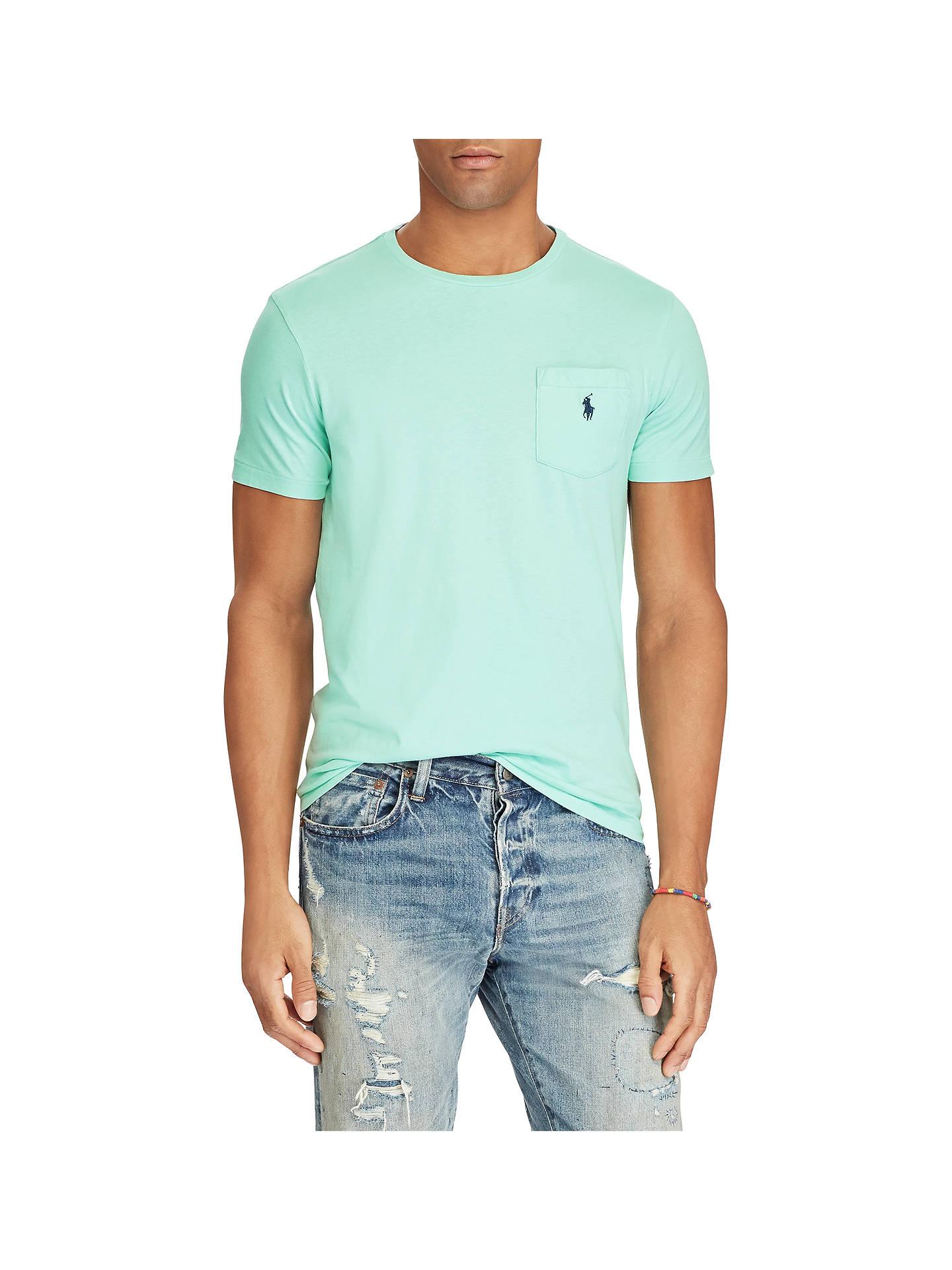 Bourgeon Fascinera Bungee jump  Polo Ralph Lauren Custom Fit Pocket T-Shirt, Bayside Green at John ...