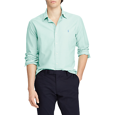 Product photo of Polo ralph lauren slim fit oxford shirt bayside green