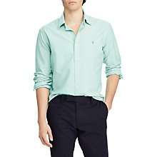 Buy Polo Ralph Lauren Slim Fit Oxford Shirt, Bayside Green Online at johnlewis.com